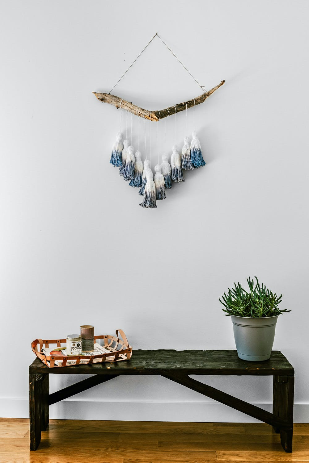 Dip-dyed wall hanging