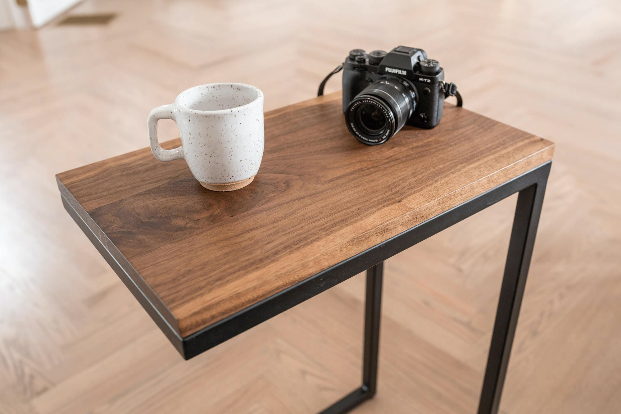 Walnut C Table